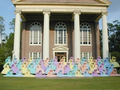 The Azalea Trail Maids on the campus of Spring Hill College.