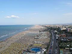 Rimini is a major seaside tourist resort in Italy