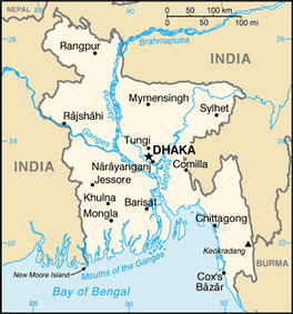 A map of Bangladesh