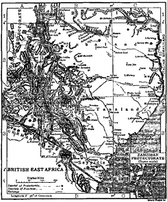 Map of British East Africa in 1911