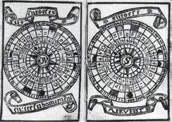 "Brouscon's Almanach of 1546: Tidal diagrams ""according to the age of the moon""."