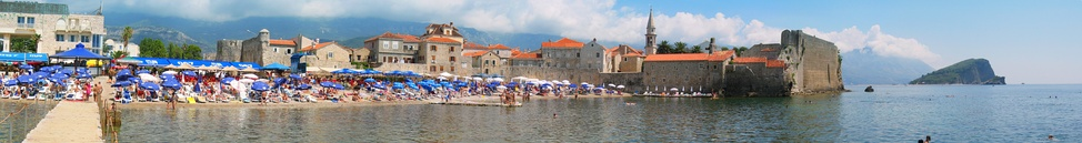 Panorama of Budva Old Town