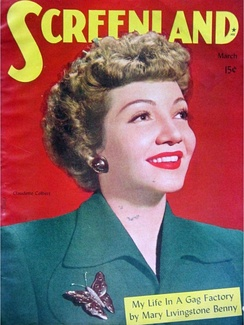 Colbert on Screenland cover before release of Guest Wife (1945)