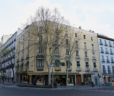 Housing building where Falla lived in Madrid from 1901 to 1907
