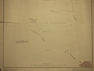 1:5260 of Custer battlefield — surveyed 1891, detailing U.S. soldiers' body locations