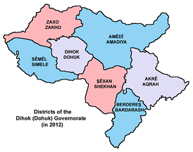 Districts of the Dohuk Governorate[6]