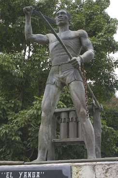 Statue of rebel leader Yanga