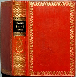 Cover of the first edition of Faust Part Two, 1832