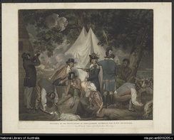 Founding of the settlement of Port Jackson at Botany Bay in New South Wales in 1788 - Thomas Gosse