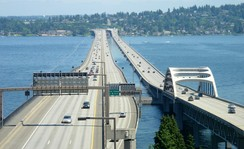 Floating bridges on Lake Washington