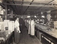 FDA official inspecting a candy factory c. 1911
