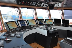 Integrated Bridge System, integrated on an Offshore Service Ship