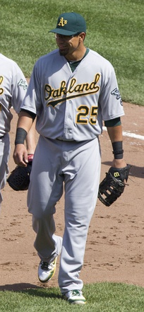 Kaʻaihue during his tenure with the Oakland Athletics in 2012