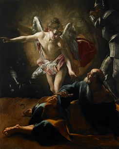 The Liberation of St. Peter from prison by an angel, by Giovanni Lanfranco, 1620–21