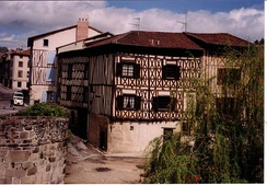 Limoges, half-timbered house by the bridge Saint Martial