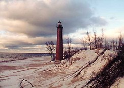 Little Sable Point Light south of Pentwater, Michigan.