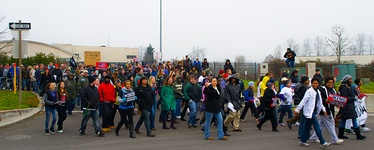 A Martin Luther King Day march in Oregon