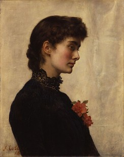Collier's first wife, Marian Huxley, 1883