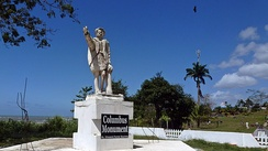 Moruga – Christopher Columbus monument. Columbus landed here on his third voyage in 1498. This is on the southern coast of the island of Trinidad, West Indies