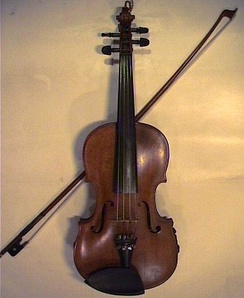 A fiddle and bow