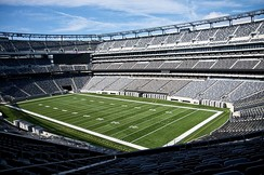 MetLife Stadium in East Rutherford, home to the NFL's New York Giants and New York Jets.[218]