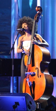Jazz singer/bassist Esperanza Spalding performing on 10 December 2009 at the Nobel Peace Prize Concert of 2009