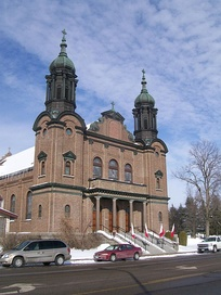 Our Lady of Lourdes Catholic Church, Little Falls, Minnesota. Built in 1922 by Polish-American immigrants.