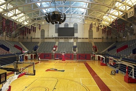 An empty Palestra in 2016