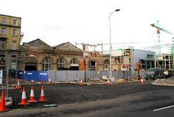 Station front during redevelopment, after demolition of 'Paragon House' (2006)