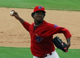 Martínez with Clearwater Threshers on July 26, 2009