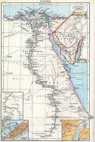 Detailed map of the Ptolemaic Egypt.