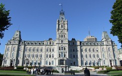 The Parliament Building of Quebec.