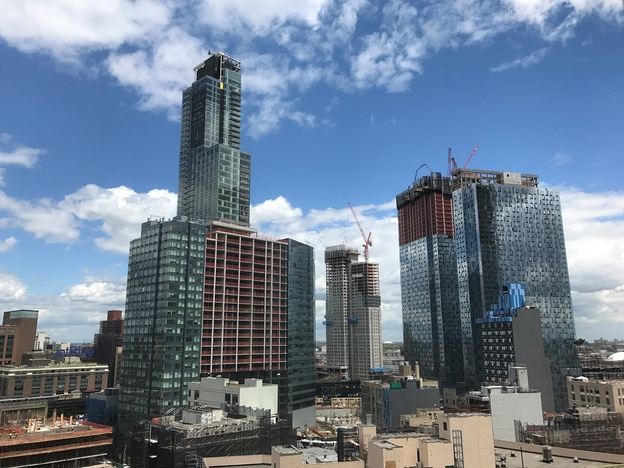 The growing skyline of Queens Plaza, Long Island City, seen in 2017