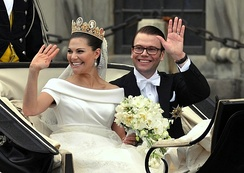 The Crown Princess and Prince Daniel on their wedding day