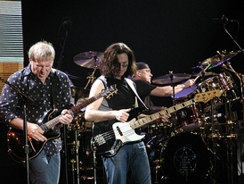 Rush on stage in Milan in mid-September 2004
