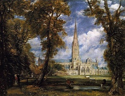 Salisbury Cathedral by John Constable, ca. 1825