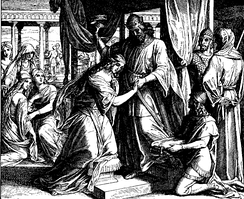 Esther is crowned in this 1860 woodcut by Julius Schnorr von Karolsfeld