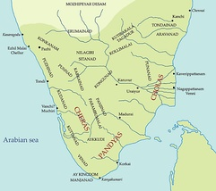 Tamilakam, located in the tip of South India during the Sangam period, ruled by Chera dynasty, Chola dynasty and the Pandyan dynasty.
