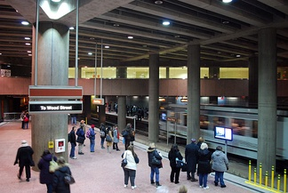 The Steel Plaza subway station.
