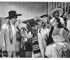 "The Important Man Japanese actor Toshiro Mifune with Flor Silvestre in Animas Trujano. The film revolves around a festival of mayordomía in the Mexican Oaxaca state, which revolves around on something like the idea of ""king for a day."""