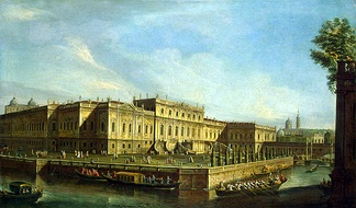 Painting of the Summer Palace of Elizaveta Petrovna in 1756.