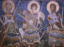 Fresco of Holy warriors, Areta, Nestor and Nikita, north choir (1413-1418).[3]