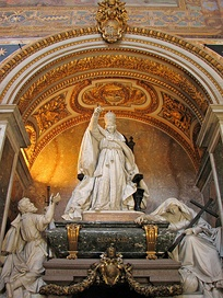 The monument and tomb to Leo XIII in the Basilica of Saint John Lateran.