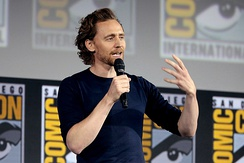 Hiddleston at the 2019 San Diego Comic-Con