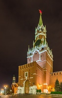 Spasskaya Tower at night