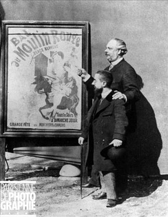 Toulouse-Lautrec and Mr Tremolada, Zidler's assistant and Moulin-Rouge manager, Paris, 1892.