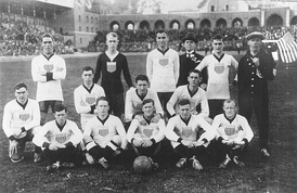 The first U.S. official formation in 1916, Stockholm Olympic Stadium, Sweden