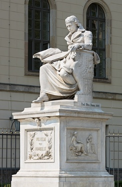 Statue of Wilhelm von Humboldt outside Humboldt University, Unter den Linden, Berlin.