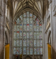 The West Window's stained glass mosaic