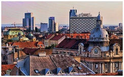 Downtown of Zagreb